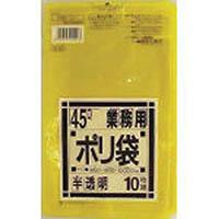 【CAINZ DASH】サニパック 業務用45L袋黄色半透明10
