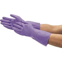 【CAINZ DASH】ショーワ まとめ買い簡易包装ビニール厚手Lサイズ バイオレット1Pk(袋)10双