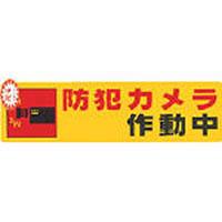 防犯サインステッカー [防犯カメラ作動中] RE1900-4