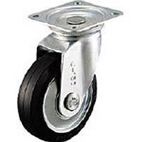 【CAINZ DASH】シシク スタンダードプレスキャスター ゴム車輪 自在 130径