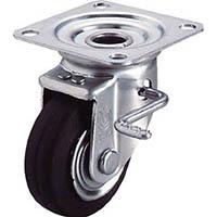【CAINZ DASH】ユーエイ 産業用キャスターダブルS付自在車 75径ゴム車輪