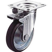 【CAINZ DASH】ユーエイ 産業用キャスター旋回固定式自在車  150径ゴム車輪
