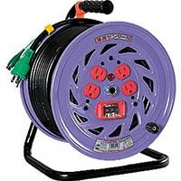 【CAINZ DASH】日動 電工ドラム 標準型100Vドラム アース過負荷漏電しゃ断器付 30m
