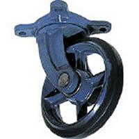 【CAINZ DASH】京町 鋳物製自在金具付ゴム車輪100MM