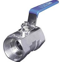 【CAINZ DASH】イノック ねじ込みボールバルブ 全長44.0mm 呼び径(A)10