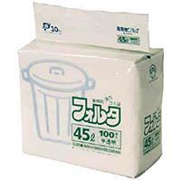 【CAINZ DASH】サニパック F−4H環優包装フォルタ45L白半透明 (1袋(PK)=100枚入)