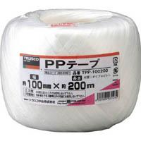 【CAINZ DASH】TRUSCO PPテープ 幅100mmX長さ200m 白