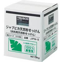 【CAINZ DASH】TRUSCO ジャプピカ天然粉せっけん 5kg (1個=1箱)