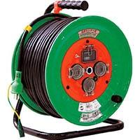 【CAINZ DASH】日動 電工ドラム 防雨防塵型100Vドラム アース漏電保護しゃ断器付 50m