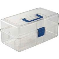 【CAINZ PRO】TRUSCO 透明工具箱 中皿なし フリータイプ TCRBOXF