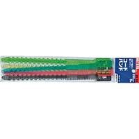 ハタヤ ベルトクリップ 270mm (赤、黄、緑、青、黒×各1本) CV27