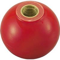 【CAINZ DASH】TRUSCO 樹脂製握り玉 金具付赤 32XM8mm (20個入)