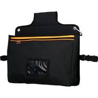【CAINZ DASH】TRUSCO 楽チン台車バッグ マチ付きポケット型 ブラック
