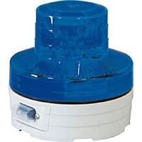 【CAINZ DASH】日動 電池式LED回転灯 ニコUFO 夜間自動点灯タイプ 青