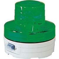 【CAINZ DASH】日動 電池式LED回転灯 ニコUFO 夜間自動点灯タイプ 緑