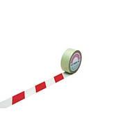【CAINZ DASH】緑十字 ラインテープ(ガードテープ) 白/赤 50mm幅×20m 屋内用