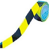 【CAINZ DASH】緑十字 ラインテープ(ガードテープ) 黄/黒 再剥離タイプ 50mm幅×20m