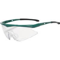 【CAINZ DASH】TRUSCO 一眼型安全メガネ フレームグリーン レンズクリア