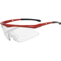 【CAINZ DASH】TRUSCO 一眼型安全メガネ フレームレッド レンズクリア