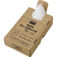 【CAINZ DASH】TRUSCO まとめ買い 業務用ポリ袋 透明・箱入り 0.05X70L  (100枚入)