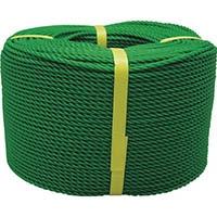 【CAINZ DASH】ユタカメイク ロープ PEロープ巻物 6φ×200m グリーン