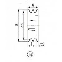 【CAINZ DASH】EVN ブッシングプーリー SPA 125mm 溝数2