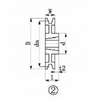 【CAINZ DASH】EVN ブッシングプーリー SPA 180mm 溝数1