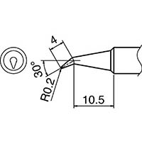 【CAINZ DASH】白光 こて先 0.2BR型