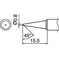 【CAINZ DASH】白光 こて先 0.8C型