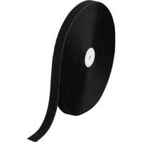 【CAINZ DASH】TRUSCO マジック結束テープ 縫製用B側 25mmX25m 黒