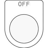 【CAINZ DASH】IM 押ボタン/セレクトスイッチ(メガネ銘板)OFF 黒 φ22.5