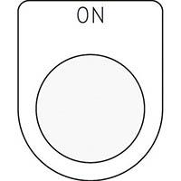 【CAINZ DASH】IM 押ボタン/セレクトスイッチ(メガネ銘板) ON 黒 φ25.5