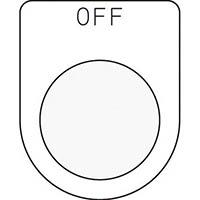 【CAINZ DASH】IM 押ボタン/セレクトスイッチ(メガネ銘板) OFF 黒 φ30.5