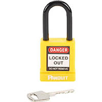【CAINZ DASH】パンドウイット ロックアウト用非電導性パドロック 黄