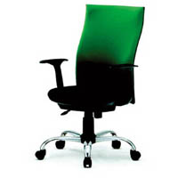 【CAINZ DASH】TRUSCO ハイバックオフィスチェアー 肘付 緑