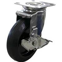 【CAINZ DASH】ユーエイ キャスターステンレス製自在車 150径ナイロンホイルゴム車輪