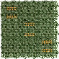 【CAINZ DASH】ワタナベ 人工芝 ブラッシングターフ 30cm×30cm グリーン