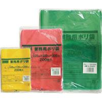 【CAINZ DASH】TRUSCO 小型ポリ袋 縦230X横170Xt0.05  緑 (200枚入)
