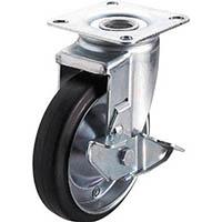 【CAINZ DASH】ユーエイ 産業用キャスターS付自在車 130径ゴム車輪