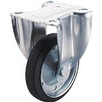 【CAINZ DASH】ユーエイ 産業用キャスター固定車 100径ゴム車輪