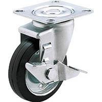 【CAINZ DASH】ユーエイ 産業用キャスターS付自在車 125径ゴム車輪