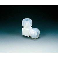 【CAINZ DASH】フロンケミカル フッ素樹脂 接続ジョイントL型 8mm