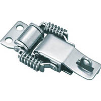 【CAINZ DASH】TRUSCO パッチン錠 鍵穴付バネタイプ ステンレス 2個入