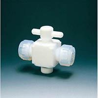 【CAINZ DASH】フロンケミカル フッ素樹脂(PTFE)二方バルブ接続6mm