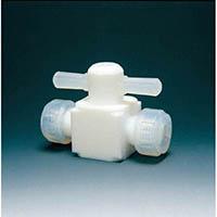 【CAINZ DASH】フロンケミカル フッ素樹脂(PTFE)二方バルブ圧入型 6φ