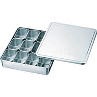 【CAINZ DASH】スギコ 18−8検食用容器 田型日付入 12個入 327×286×63