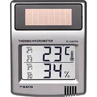 【CAINZ DASH】佐藤 ソーラーデジタル温湿度計