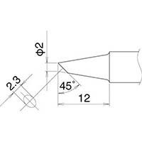 【CAINZ DASH】白光 こて先 2BC型