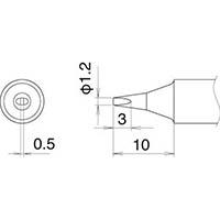 【CAINZ DASH】白光 こて先 1.2D型