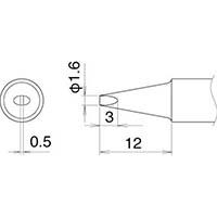 【CAINZ DASH】白光 こて先 1.6D型